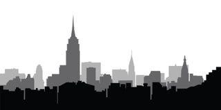 De vector van de horizonNew York van de stad stock afbeeldingen