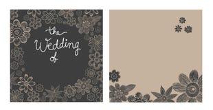 De Vector van de huwelijksuitnodiging Royalty-vrije Stock Foto's