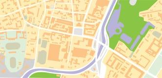 De vector van de kaart Royalty-vrije Stock Fotografie
