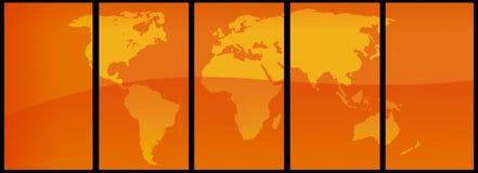 De Vector van de Kaart van de wereld Stock Afbeelding
