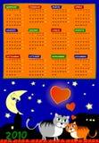 De vector van de kalender van volgend jaar Stock Foto's