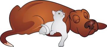 De vector van de kat en van de Hond stock illustratie