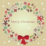 De vector van de kerstkaart Royalty-vrije Stock Afbeeldingen