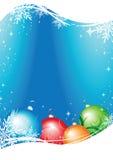 De vector van de kerstkaart Stock Fotografie