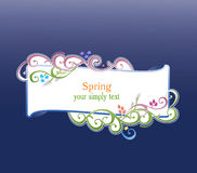 De vector van de lente en van de zomer vector illustratie