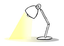 De vector van de lezingslamp Stock Fotografie