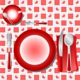 De Vector van de Lijst van het diner Royalty-vrije Stock Fotografie
