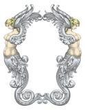 De vector van de Meerminnen van de fee Stock Fotografie
