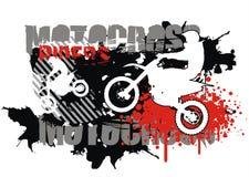 De vector van de motocross Stock Afbeeldingen