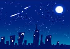 De Vector van de Nacht van de stad Royalty-vrije Stock Foto's