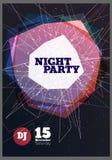 De Vector van de nachtpartij Stock Foto