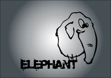 De vector van de olifant Royalty-vrije Stock Foto