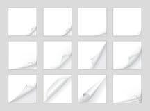 De vector van de paginakrul Stock Foto's