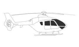de vector van de reddingshelikopter EC135 Stock Foto
