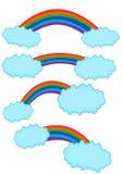 De Vector van de regenbooginzameling Royalty-vrije Stock Afbeelding