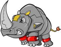 De Vector van de Rinoceros van de robot stock illustratie