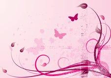 De vector van de roze-lente Stock Foto's