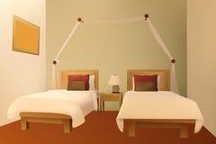 De vector van de slaapkamer Stock Afbeeldingen