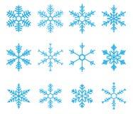 De Vector van de sneeuwvlok Stock Foto's