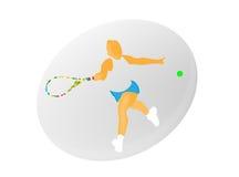 De Vector van de tennisvrouw Stock Foto
