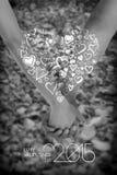 De vector van de valentijnskaartendag Stock Foto's