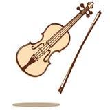 De vector van de viool Stock Afbeeldingen