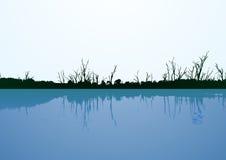 De vector van de waterkant Stock Foto's