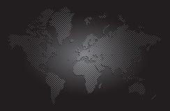 de vector van de wereldkaart Royalty-vrije Stock Afbeelding