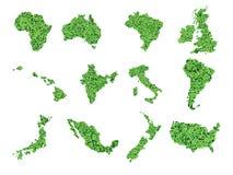 De Vector van de wereldkaart Stock Foto