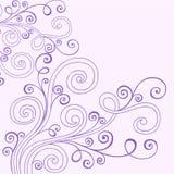 De Vector van de Wervelingen van de Krabbel van de henna stock illustratie