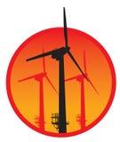 De vector van de windgenerator Royalty-vrije Stock Afbeelding