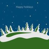 De vector van de winter Royalty-vrije Stock Afbeeldingen