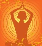 De vector van de yoga Stock Fotografie