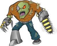 De Vector van de zombiestrijder Royalty-vrije Stock Afbeeldingen