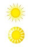 De vector van de zon Stock Fotografie