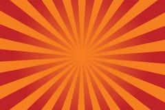 De vector van de zonnestraal Stock Fotografie