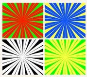 De vector van de zonnestraal Royalty-vrije Stock Foto's