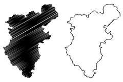 De vector van de Denizlikaart vector illustratie
