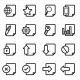 De vector van documentpictogrammen Stock Afbeeldingen