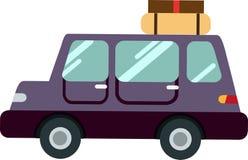De vector van de familieauto op witte achtergrond vector illustratie