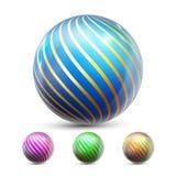 De Vector van de gebiedbal Orb het Glanzen Magische bol Vloeibaar element Juwelier Perl 3d realistische illustratie vector illustratie