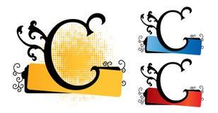 De vector van het alfabet c Royalty-vrije Stock Afbeeldingen