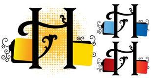De vector van het alfabet h Stock Foto
