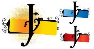 De vector van het alfabet j Stock Foto's