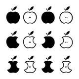 De vector van het appelenpictogram Stock Afbeeldingen