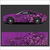 De vector van het autooverdrukplaatje, de stijlsamenvatting van Draaktatoegeringen royalty-vrije illustratie