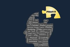De Vector van het bedrijfswinstconcept royalty-vrije illustratie