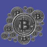 De vector van het beetjemuntstuk Elektronische munt Stock Foto's