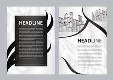 De vector van het brochuremalplaatje, bedrijfsvliegerontwerp, tijdschriftlay-out a4, jaarverslag, catalogus, pamflet, boekje, gra stock illustratie