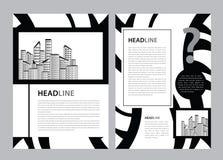 De vector van het brochuremalplaatje, bedrijfsvliegerontwerp, tijdschriftlay-out a4, jaarverslag, catalogus, pamflet, boekje, gra vector illustratie